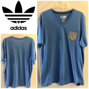 Adidas men's v-neck T-shirt sz XL